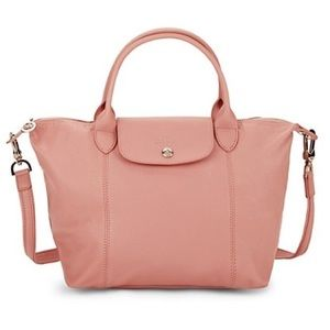 Longchamp | Small Pink Leather Le Pilage Crossbody